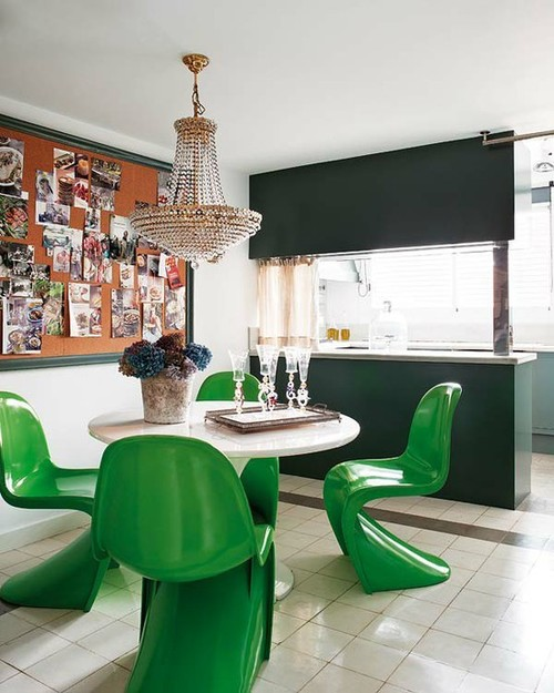 Green Panton Chair de Vitra
